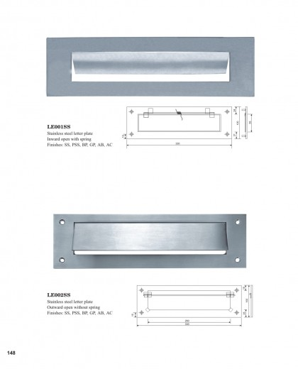 Stainless steel letter plate China manufacturers