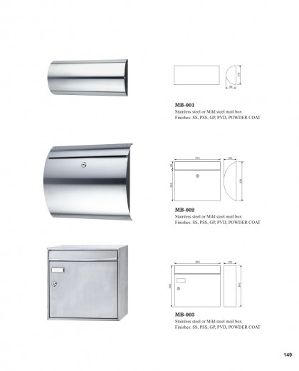 Stainless steel mild steel mail box China factory suppliers