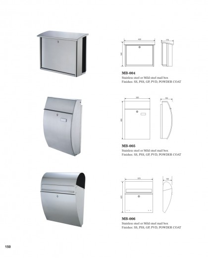 Stainless steel mild steel outdoor post box China factory manufacturers