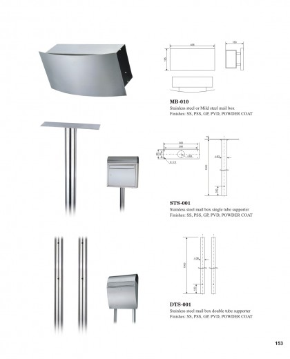 Stainless steel outdoor mail box China factory manufacturers