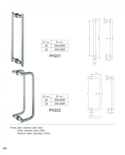 custom pull handles manufacturer PH221 PH222