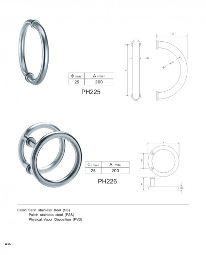 custom door handles china manufacturer PH225 PH226